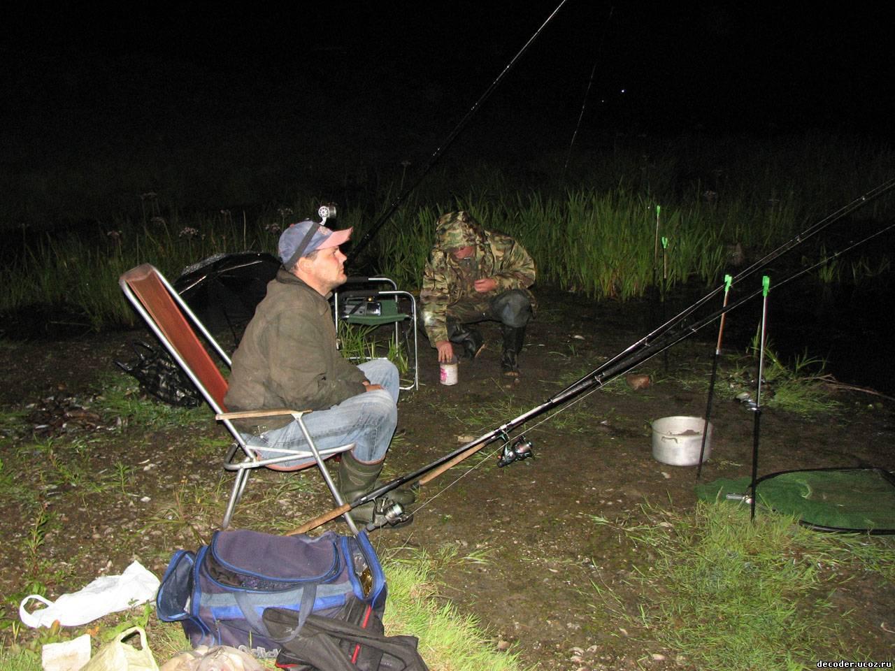 рыбалка на фидер ночью